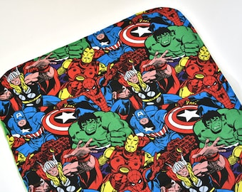 Marvel Baby Security Blanket Baby Accessories Changing Mat Super Hero Lovey Shower Gift Ideas, Made From Marvel Fabric