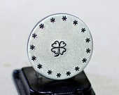 Lucky golf marker with clover leaf handmade and ready to personalize in aluminum - GM601