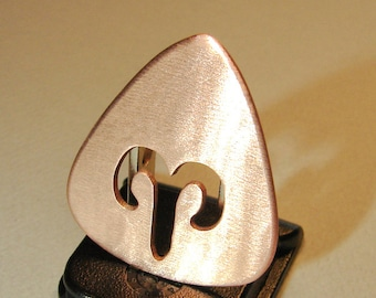 Copper Guitar Pick with Personalized Zodiac Sign - GP2091