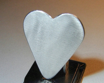 Guitar Pick Heart Handmade from Aluminum Customize Me - GP4057