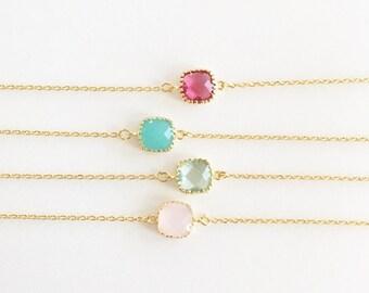 Glass Stone Bracelet