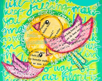 """NEW: short Online Lesson """"handwriting as a background in your art journal"""" - in English"""