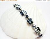 SALE Blue Sodalite Bracelet - Blue and White Bracelet - Gemstone Bracelet - Womens Bracelet - Small Womens Bracelet - Blue and White Jewelry