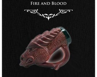 Daenarys Targaryn Accessorie NEW!!! Game Of Thrones Inspired Red Dragon Mug - Sci fi - Fantasy - Gamer - Dragon Lover Mug
