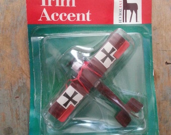 New in Package Diecast World War l Biplane Christmas Ornament - Airplane Ornament