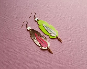 Feather Earrings No. 4