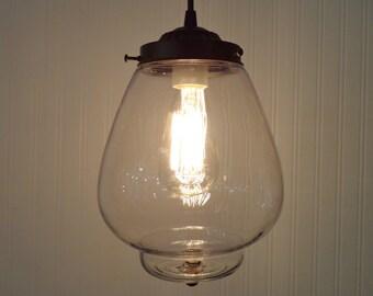 Modern PENDANT Light with Edison Bulb of Vintage Glass - Chandelier Clear Farmhouse Lamp Hanging Flush Mount Lighting Fixture Kitchen Goods