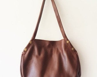 ON SALE Brown leather tote - Every day bag - Women bag