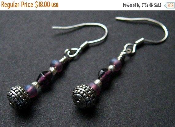 BACK to SCHOOL SALE Handmade Beaded Earrings - Gypsies in the Moonlight. Handmade Earrings.