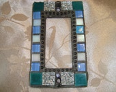 MOSAIC Outlet Cover or Switch Plate, GFI Decora, Silver, Teal, Iridescent White and Blue