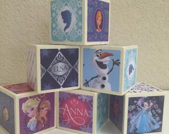 Frozen Building Blocks SET OF 6
