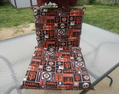 RESERVED for (((((74Inches))))) Double bingo seat cushion with San Francisco Giants fabric design
