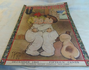 Pictorial Review Magazine December 1913, Cover Art Grace G. Drayton Christmas,