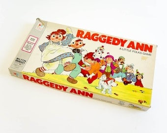 Vintage 1970s Childrens Game / Milton Bradley Raggedy Ann Board Game 1974 Complete / Be The First To Complete Raggedy Ann