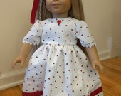 Ribbon and Buttons Valentine Doll Dess, American Girl, 18 inch doll