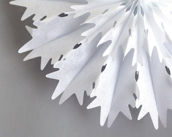 "Snowflake Honeycomb Fan (18"") Icy Snowflake Tissue Fan, Snowflake Tissue Decoration"