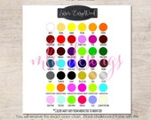 Siser EasyWeed Color Chart - Vinyl Color Chart - Use in Your Store for Listings - Instant Download Color Chart, Vinyl Color Samples