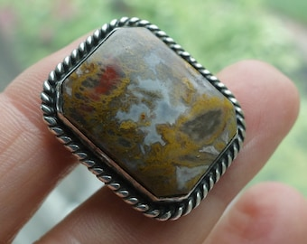 Antique Agate Sterling Ring
