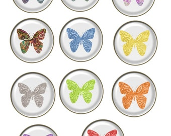 11-Butterfly Brad Glass-Digital Immediate Download-ClipArt-Art Clip-Jewelry-Background-Gift Tag.