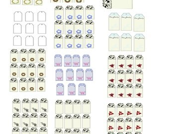 Earring and Bobby Pin Tags-Digital Immediate Download