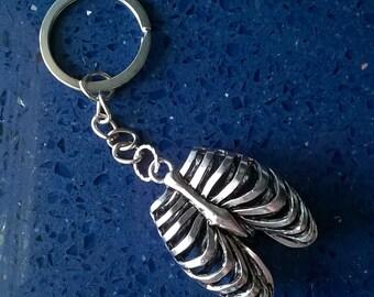 Rib Cage Keychain,Rib Cage,Ribs,Torso Keychain