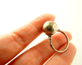 Orb Ring - Sterling Silver - Vintage