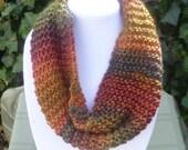 HandKnit Cowl scarf - Cowl Scarf- HandKnit cowl neck scarf - Knit Scarf- Hand Knit scarf-fall scarf - fall scarf- scarve- scarves