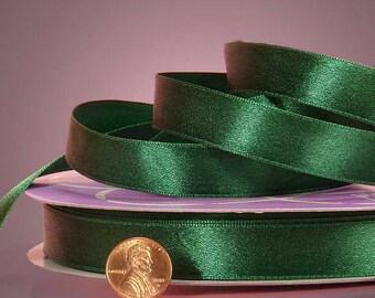 "1/4"" Satin Ribbon - Hunter Green"