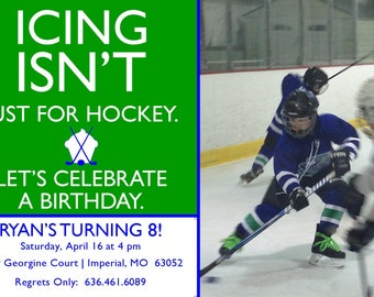 "Birthday Party Invitation ""Icing"""