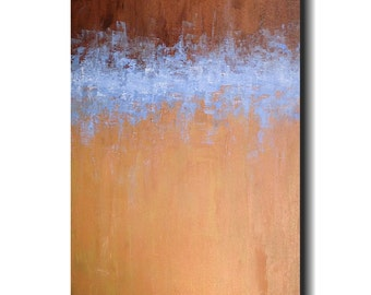"Original Large Abstract painting- 24 X 48""  -by Artist JMJartstudio-Wall art - Beyond Means"