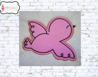 Bird applique embroidery design. Bird applique embroidery. 5 x 7. Pretty and simple bird embroidery.