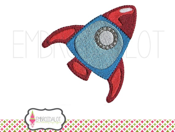 Rocket machine embroidery design space embroidery by for Space embroidery designs