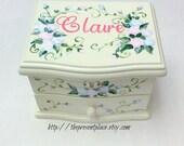 personalized musical jewelry box,pink,blue,lavender,girls jewelry box,musical ballerina jewelry box,personalized gift,musical jewelry box
