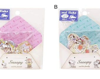 Snoopy mini Flake Seals with envelope for scrapbooking, gift message, Bookmark