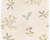 Line drawn flowers on off white - low volume quilt fabric by Daiwabo D's selection Japan