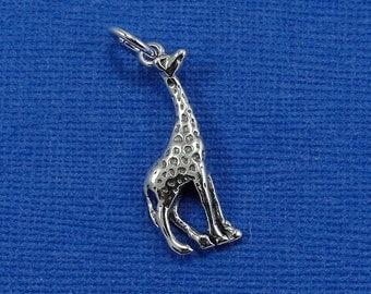Giraffe Charm - Sterling Silver Giraffe Charm for Necklace or Bracelet
