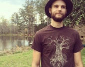 Magic forest golden tree flower of life tshirt- on sale