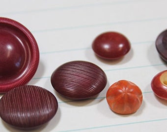 Dyed Vegetable Ivory Buttons Burgandy Orange Dyed Tagua Nut Buttons