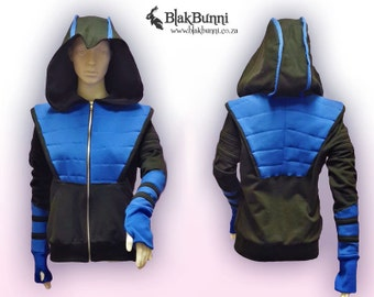 MADE TO ORDER - Subzero inspired cosplay hoodie mortal kombat ninja