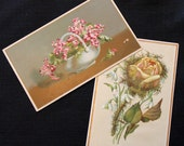 Floral Victorian Trade Cards
