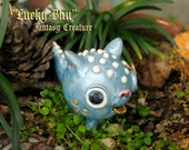 Lucky Bhu - Fantasy Creature - Lucky Charm of the Bewildering Pine - Handcrafted Miniature Polymer Figure  - Terrarium or Fairy Garden Piece