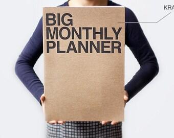 Monthly planner -Super Big size in Kraft
