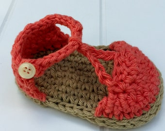 Baby Summer Shoes Crochet Pattern- Immediate PDF download. Permission to sell finished items.