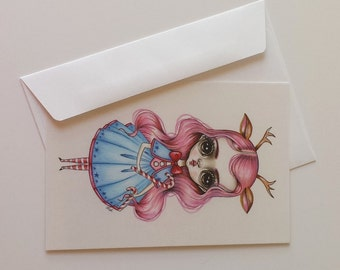 Pack of 5 Postcards-Candy Cane Pixie