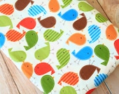 colorful Starling Birds cotton fabric quarter