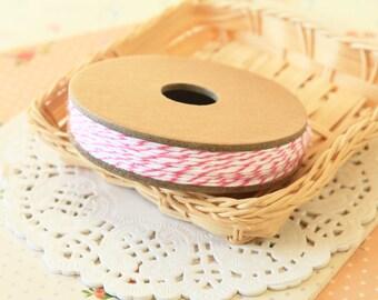 RASPBERRY dark pink Divine Twine 20yd Reel 4-ply cotton bakers twine string