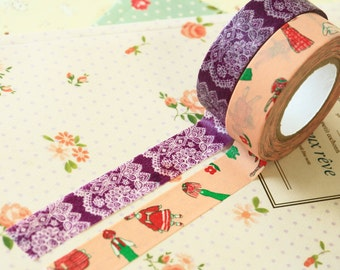 Classiky Cartoon Washi Tapes B - Mr Fashionable and Race