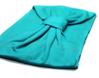 Turban Headwrap Turquoise Fashion Turban Hair Headscarf Housewife Turban Jersey Knit Turband Headband Turquoise Blue (#1508) S M