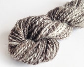 Jacobs Handspun Yarn - Black, Grey and White, 2ply Yarn, Worsted, Multi-coloured Yarn