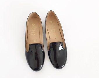 Daisy Faux Leather Flats Loafers (handmade to order)